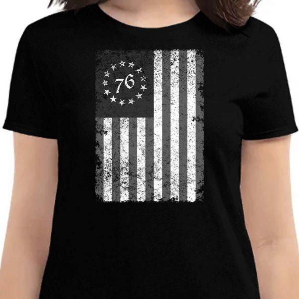 Betsy Ross flag women's shirt